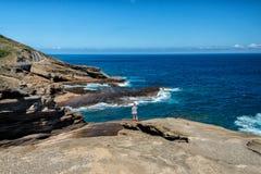 Isola dell'Hawai della costa Est di Oahu Fotografia Stock Libera da Diritti