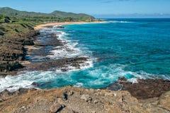 Isola dell'Hawai della costa Est di Oahu Fotografia Stock