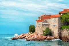 Isola dell'hotel di Sveti Stefan Fotografie Stock Libere da Diritti