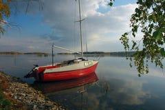 Isola dell'yacht Immagini Stock Libere da Diritti