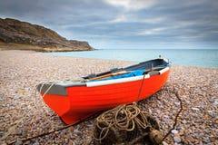 Isola della baia di Chesil di Portland Dorset Fotografie Stock Libere da Diritti