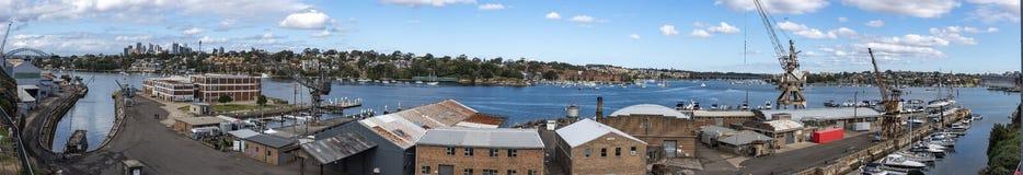Isola della cacatua, Sydney - vista panoramica fotografie stock libere da diritti