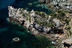 Isola della Cappa步行, Giglio海岛,意大利 免版税库存照片