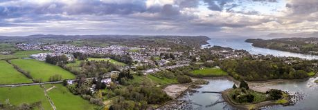 Isola della chiesa su Anglesey - Galles - il Regno Unito Fotografia Stock