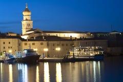 Isola della città di Krk di Krk Croazia Immagini Stock