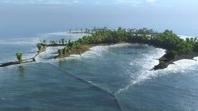 Isola della forma insolita Fotografie Stock