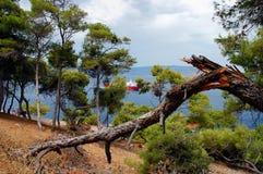 Isola della hydra Fotografie Stock Libere da Diritti