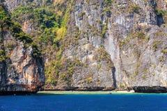 Isola della laguna di Phi Phi Ley Fotografie Stock Libere da Diritti