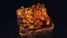 Isola della lava in futuro illustrazione di stock