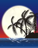 Isola della luna Immagini Stock