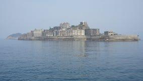 Isola della nave da guerra di Gunkanjima, Nagasaki, Giappone fotografia stock