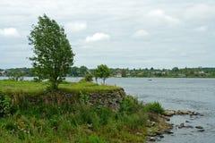 Isola della noce, sorgente del fiume Neva Immagini Stock Libere da Diritti