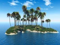 Isola della palma Immagini Stock