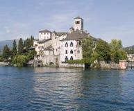 Isola della st Giulio di vista, Italia Immagini Stock Libere da Diritti