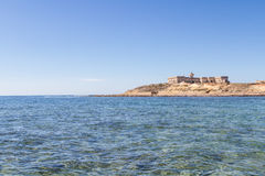 Isola delle Correnti, Capo Passero - Sicilien Arkivfoto