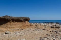 Isola delle Correnti, Capo Passero - Sicilien Royaltyfri Bild