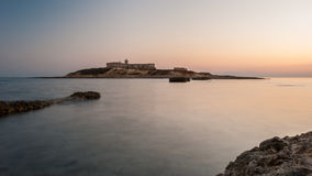 `Isola delle Correnti`, the most southern point in Sicily after the sunset Royalty Free Stock Images