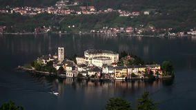 Isola di Сан Giulio сток-видео