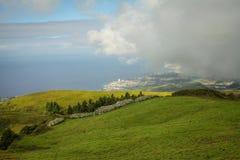 Isola di Açores l'isola verde Immagini Stock Libere da Diritti