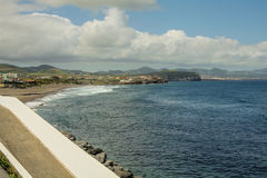 Isola di Açores l'isola verde Fotografie Stock Libere da Diritti