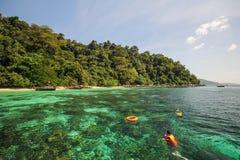 Isola di Adang, provincia Tailandia di Koh Adang Satun Immagini Stock