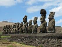 Isola di Ahu Tongaraki pasqua Fotografia Stock Libera da Diritti