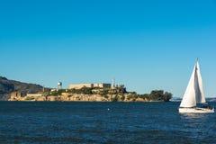 Isola di Alcatraz, San Francisco Bay immagini stock libere da diritti