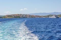 Isola di Ammouliani, Grecia Fotografia Stock