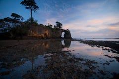 Isola di Andaman naturale del ponticello delle scogliere Immagine Stock