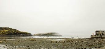 Isola di Antivari nel porto di Antivari, Maine immagini stock