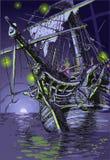 Isola di avventura - la nave del fantasma Fotografia Stock Libera da Diritti