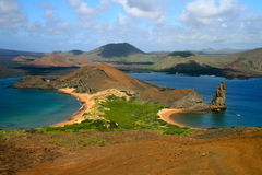 Isola di Bartolome, Galapagos Immagini Stock Libere da Diritti