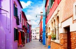 Isola di Burano, Venezia, Italia Immagini Stock