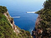 Isola di Caccia Sardegna del capo del capo Immagine Stock