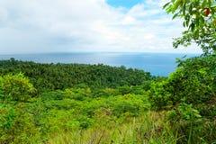 Isola di Camiguin, Filippine. Vista dal vecchio Vo Fotografia Stock Libera da Diritti