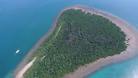 Isola di Canon in Puerto Princesa, Palawan, Filippine Vicino alla baia di Honda archivi video