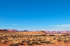 Isola di Canyonlands NP della traccia di Murphy nel cielo Utah Immagine Stock Libera da Diritti