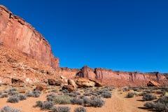 Isola di Canyonlands NP della traccia di Murphy nel cielo Utah Fotografia Stock Libera da Diritti