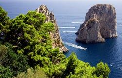 Isola di Capri Fotografia Stock