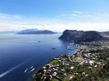 Isola di Capri, Italia, vicino a Napoli Fotografie Stock