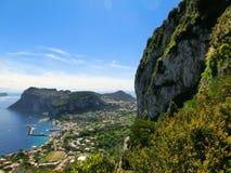 Isola di Capri, Italia, vicino a Napoli Immagini Stock Libere da Diritti