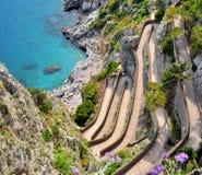 Isola di Capri via Krupp immagini stock libere da diritti