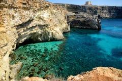 Isola di Comino, Malta Fotografia Stock