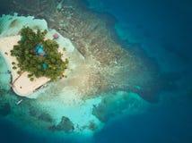 Isola di corallo nel Nicaragua fotografia stock