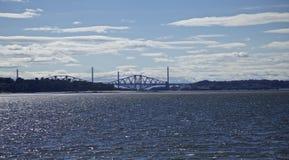 Isola di Cramond - vista avanti del ponte immagine stock libera da diritti