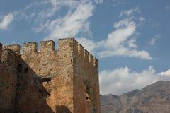 Isola di Creta, Frangokastello immagine stock