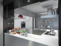 Isola di cucina Fotografia Stock