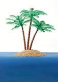 Isola di deserto privata Fotografia Stock Libera da Diritti