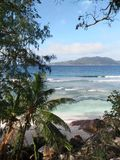 Isola di Digue della La, Seychelles Fotografie Stock Libere da Diritti