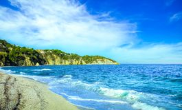 Isola di Elba, costa Toscana, Italia della spiaggia di Portoferraio Le Ghiaie Immagine Stock